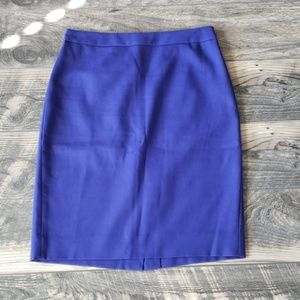 J. Crew No. 2 Pencil Skirt in Blue